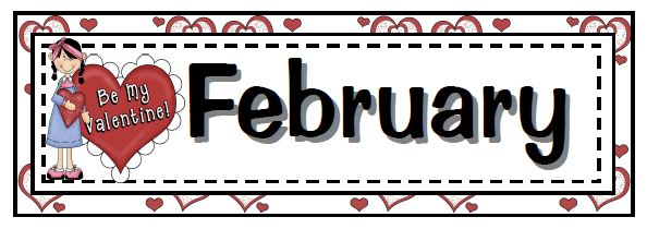 February Calendar Heading Clipart.