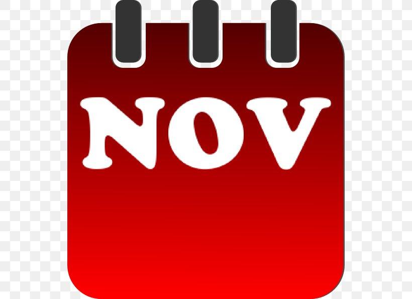 November Calendar Clip Art, PNG, 552x595px, November, Brand.