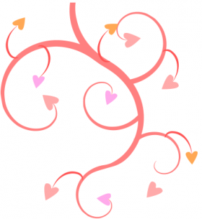 February Hearts Clip Art.
