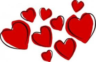 February Hearts Clipart Images.