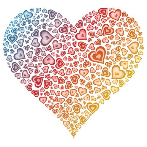 February Hearts Clip Art.