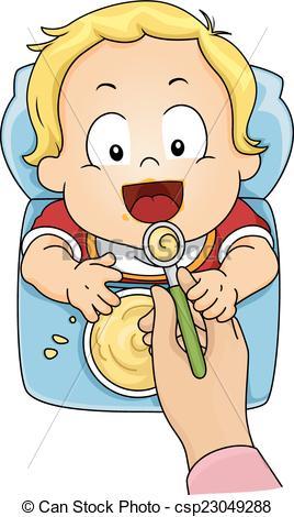 Vector of Baby Food.