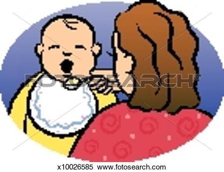 Feeding baby Stock Illustrations. 438 feeding baby clip art images.