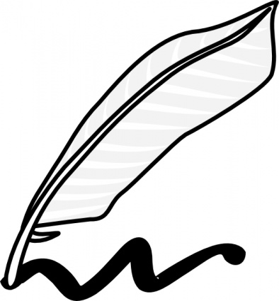 Writing Using A Feather And Ink clip art Clipart Graphic.