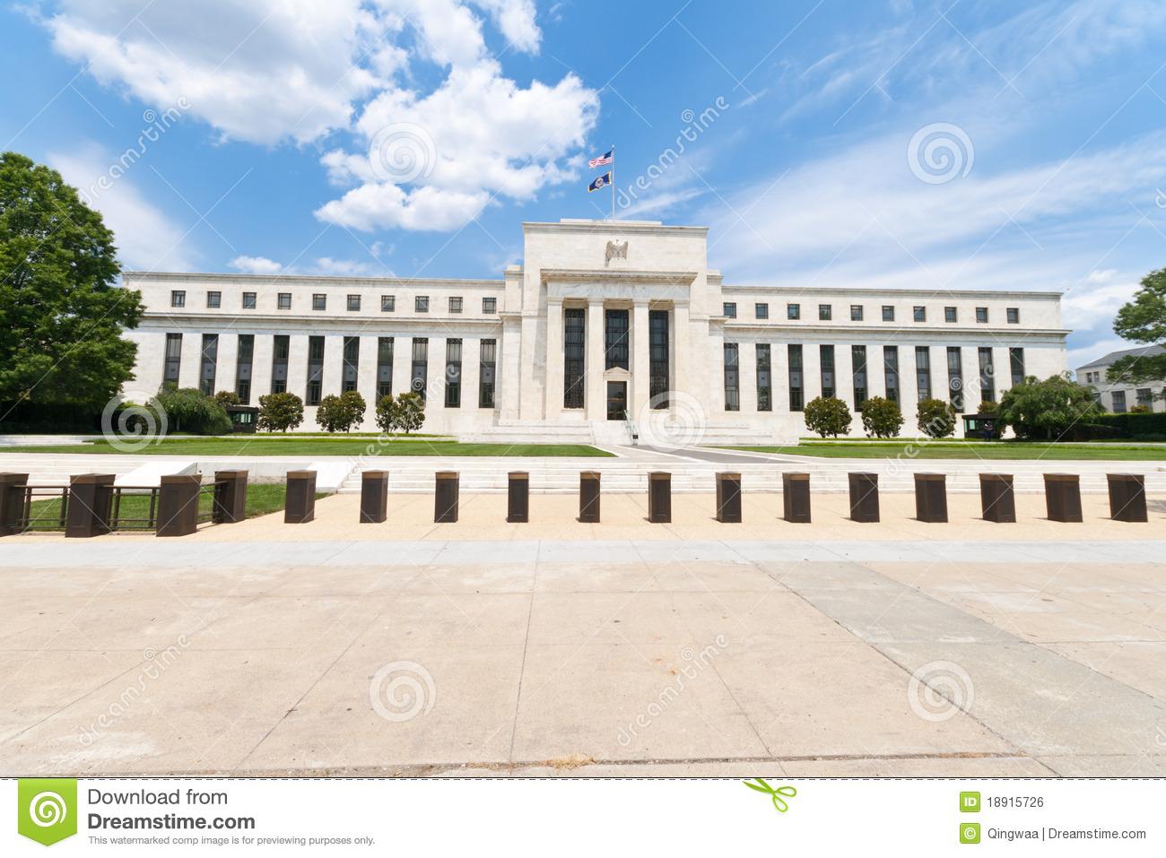 Federal Reserve Facade 2 Stock Photos.