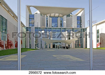 Stock Photo of Main entrance Federal Chancellery, Berlin, Germany.