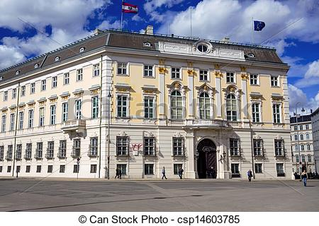 Pictures of austria. vienna. federal chancellery.