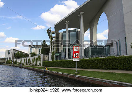 Pictures of German Federal Chancellery, as seen from the Spree.