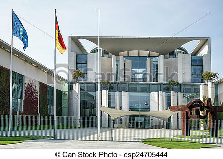 Stock Photo of The Federal Chancellery building offical residence.