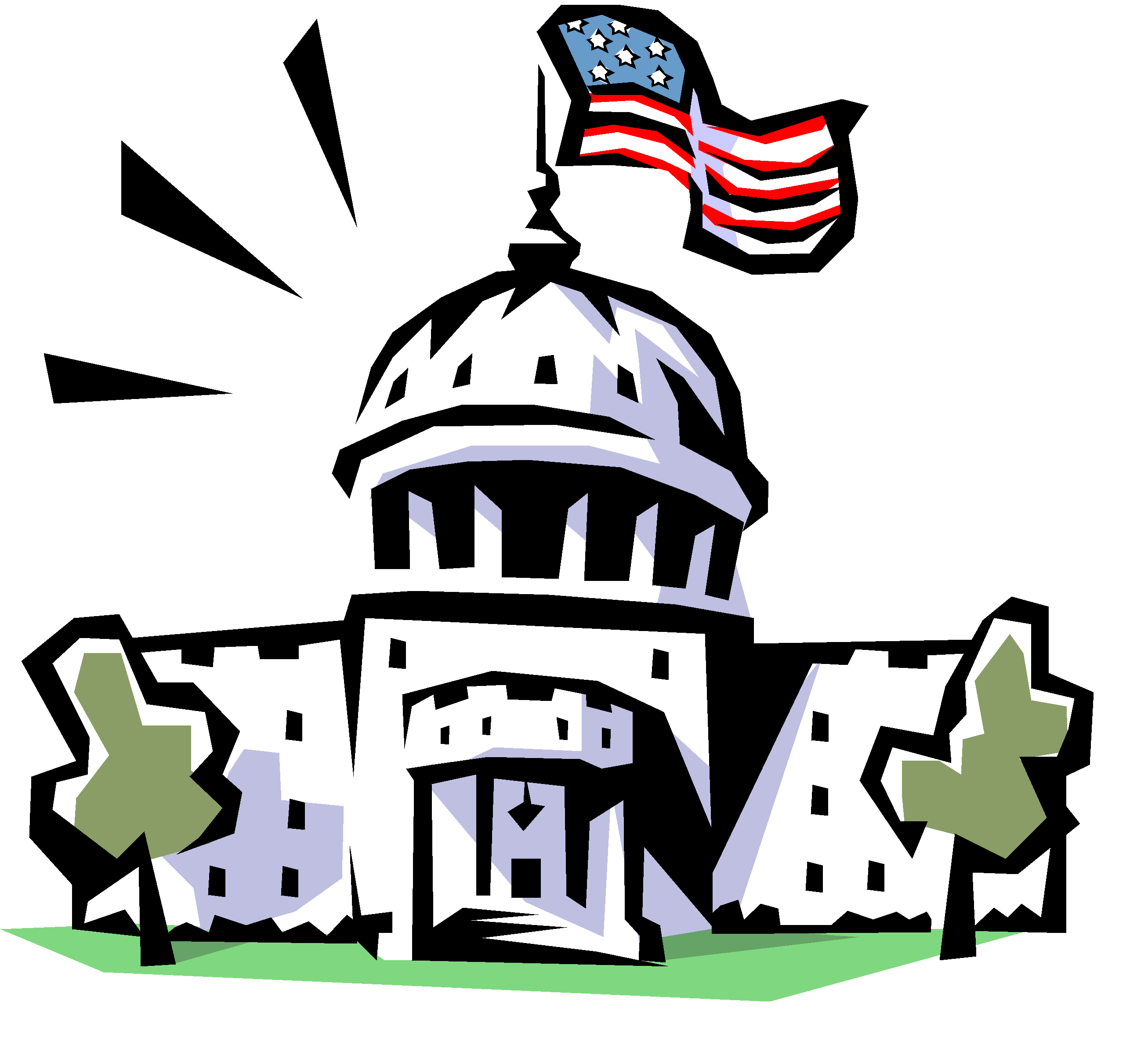 Strong federal government clipart.