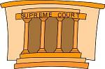 Supreme Court Justice Books Clipart.