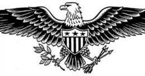 Patriotic Black And White Clipart.