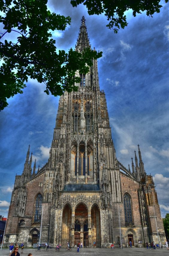 Ulm Cathedral (the highest church tower in the world) Germany I.