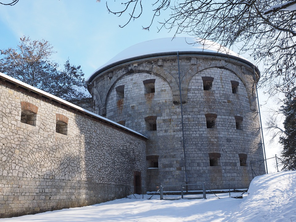 Free photo: Fortress Wall, Tower, Cross Tower.