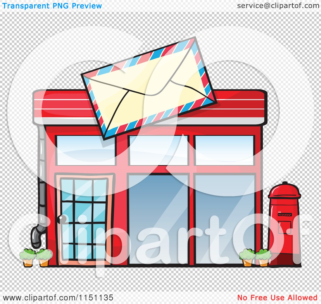 Clipart of a Post Office.