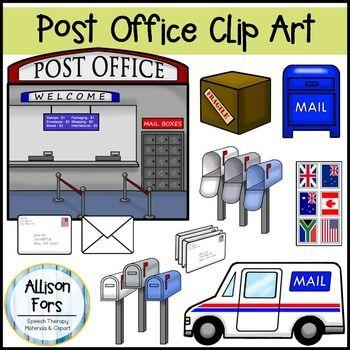 Post Office & Mailman Clip Art.