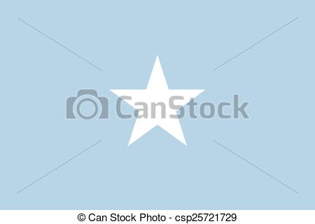 Vector Illustration of Federal Republic of Somalia official flag.