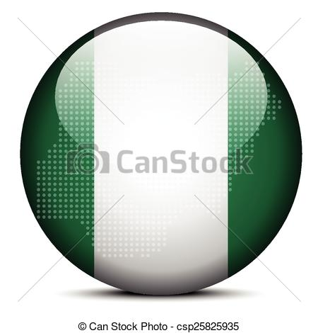 Vectors of Map with Dot Pattern on flag button of Federal Republic.