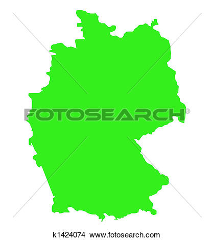 Drawings of Federal Republic of Germany map outline k1424074.