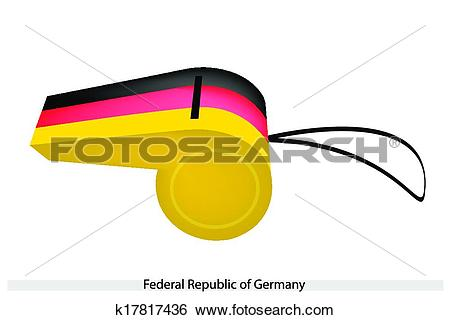 Clip Art of A Whistle of Federal Republic of Germany k17817436.