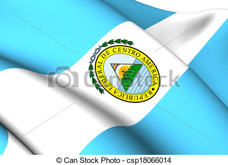 Clipart of Flag of Federal Republic of Central America (1823.