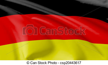 Clipart of Flag of Federal Republic of Germany.