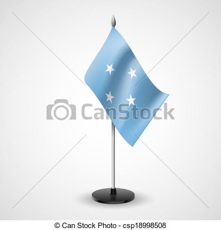 Vector Clipart of Table flag of Federated States of Micronesia.