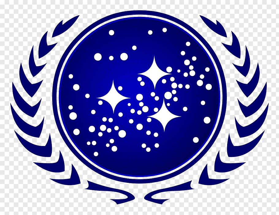 Round star logo, United Federation of Planets Starfleet Star.