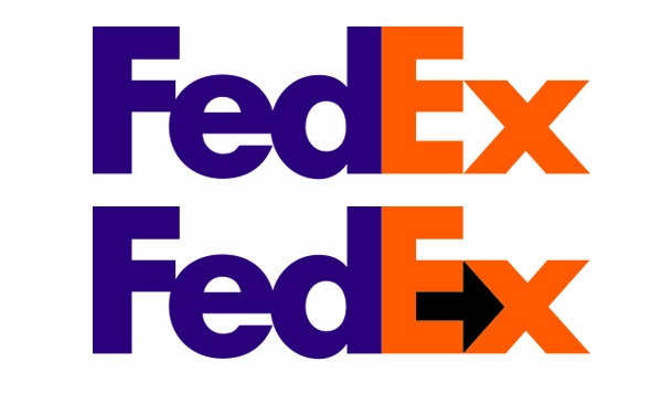 I don\'t see the symbol in the FedEx sign; what is the sign.
