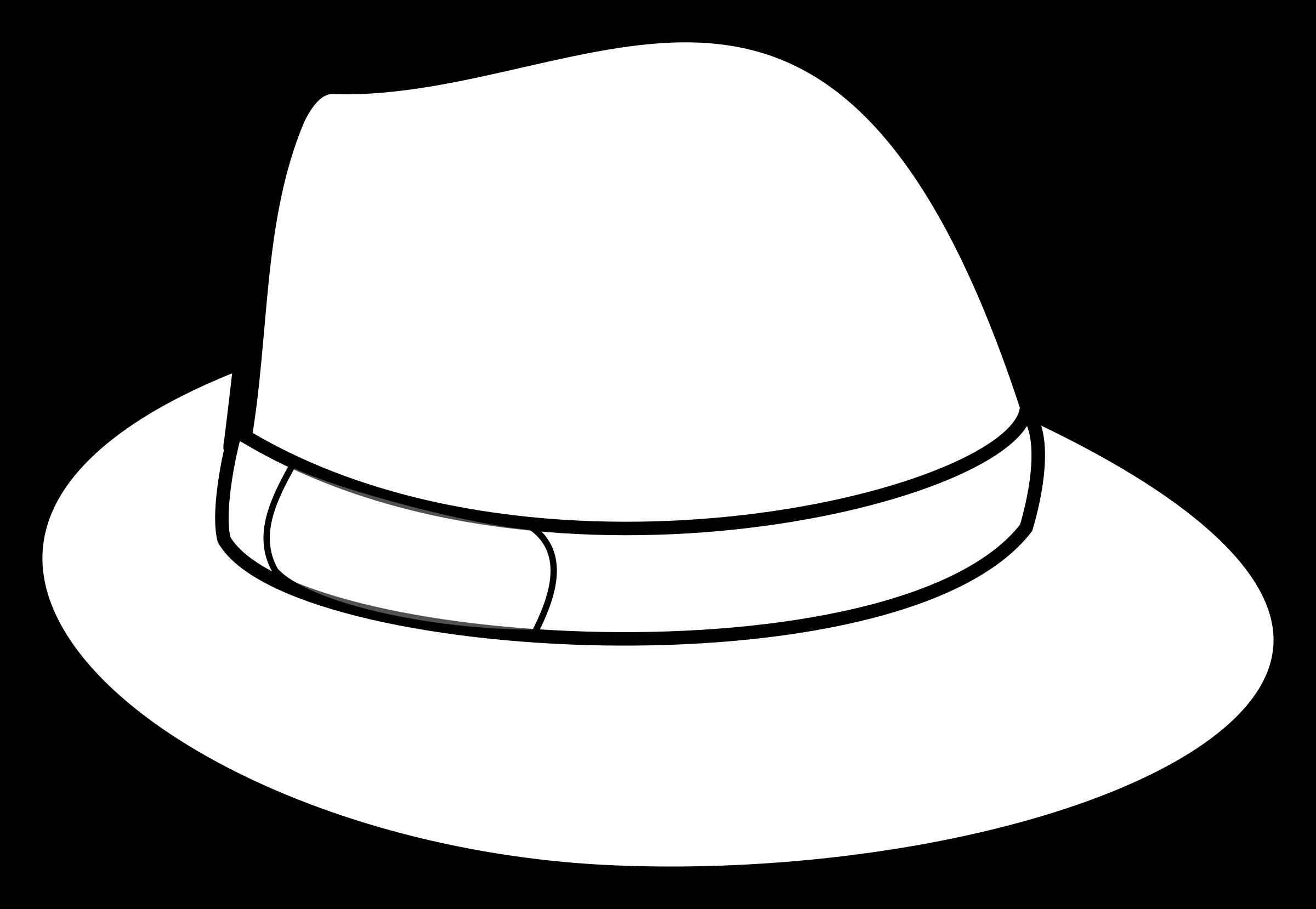 Fedora Clip Art Clipart Hat Outline #g6wEto.
