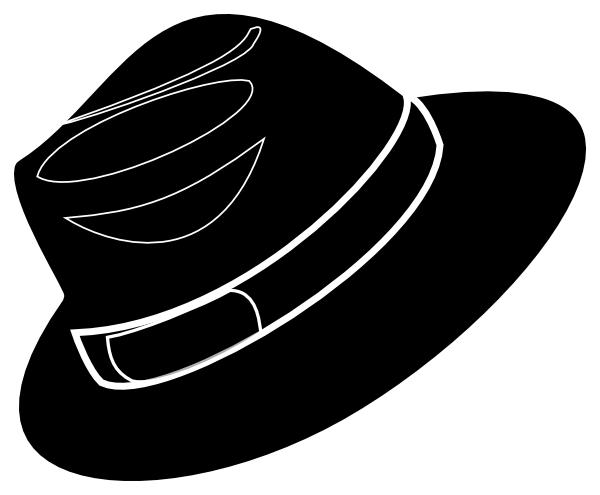 White fedora clip art.