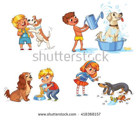 Feeding Dog Stock Images, Royalty.