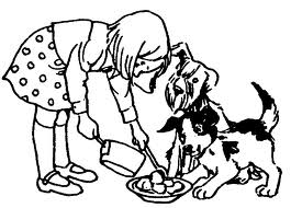 Clipart feed the dog.