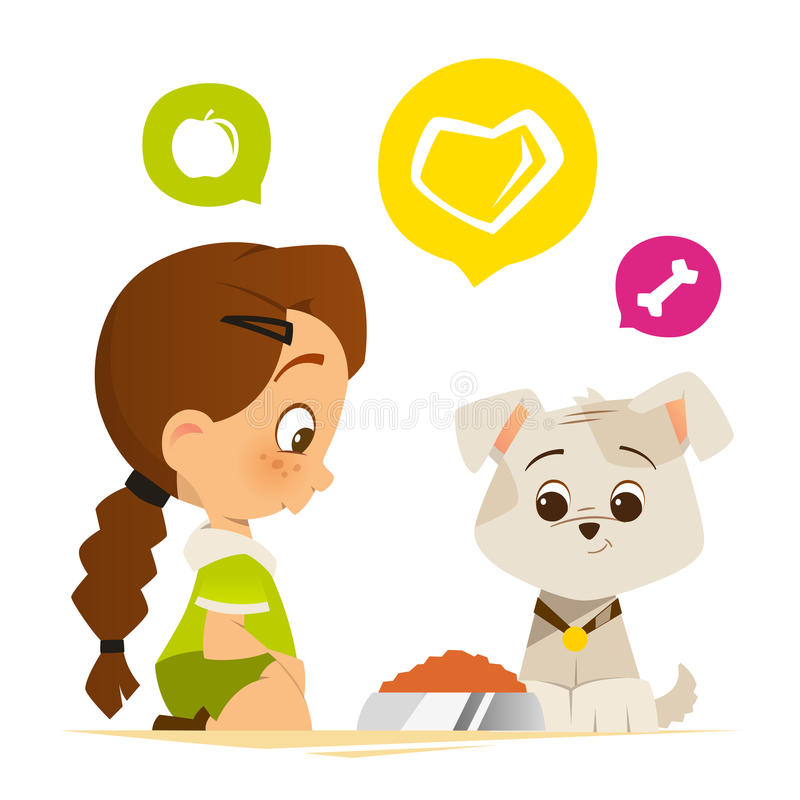 Feed Dog Stock Illustrations.