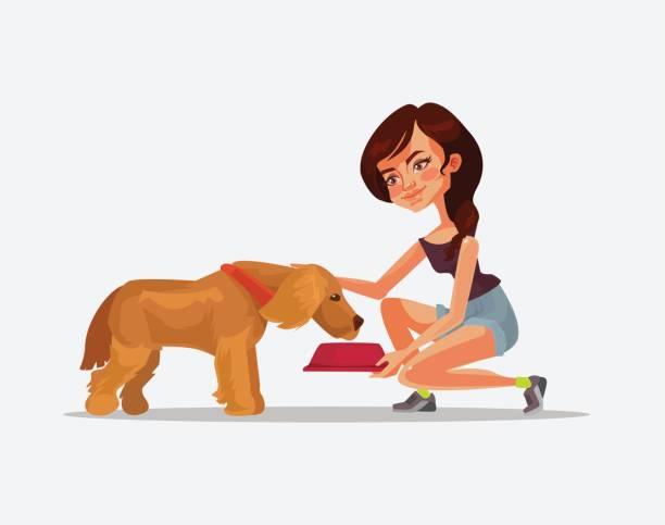 Best Feeding Dog Illustrations, Royalty.