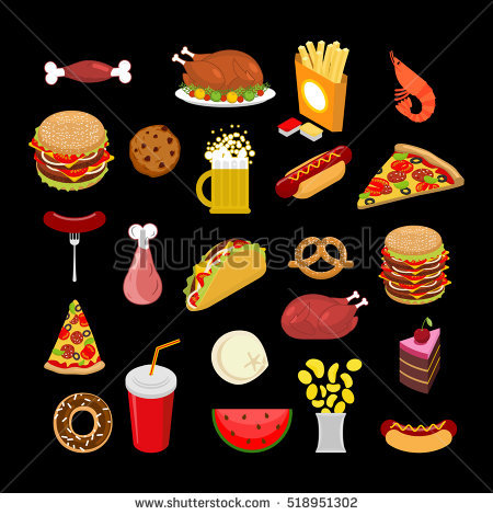 Royalty Free Stock Photos and Images: Food set. feed Icon.