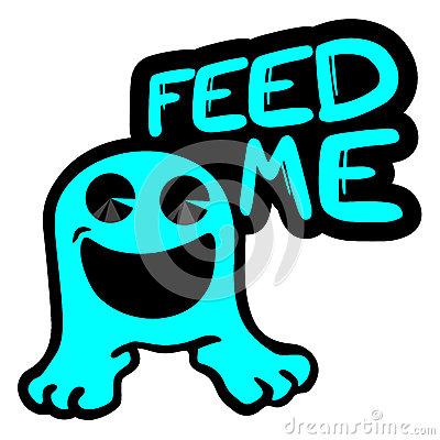Feed Me Stock Photo.
