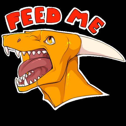 Sticker] FEED ME — Weasyl.