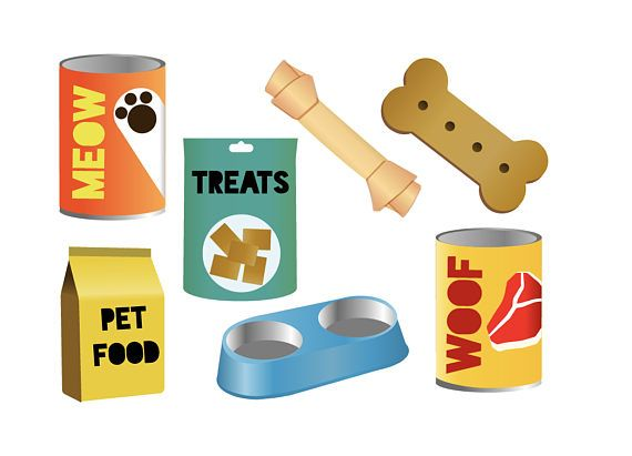 PET FOOD CLIPART.