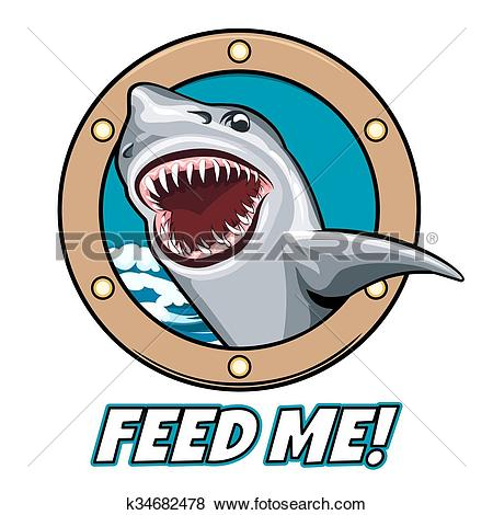 Clip Art of Feed Me Emblem k34682478.