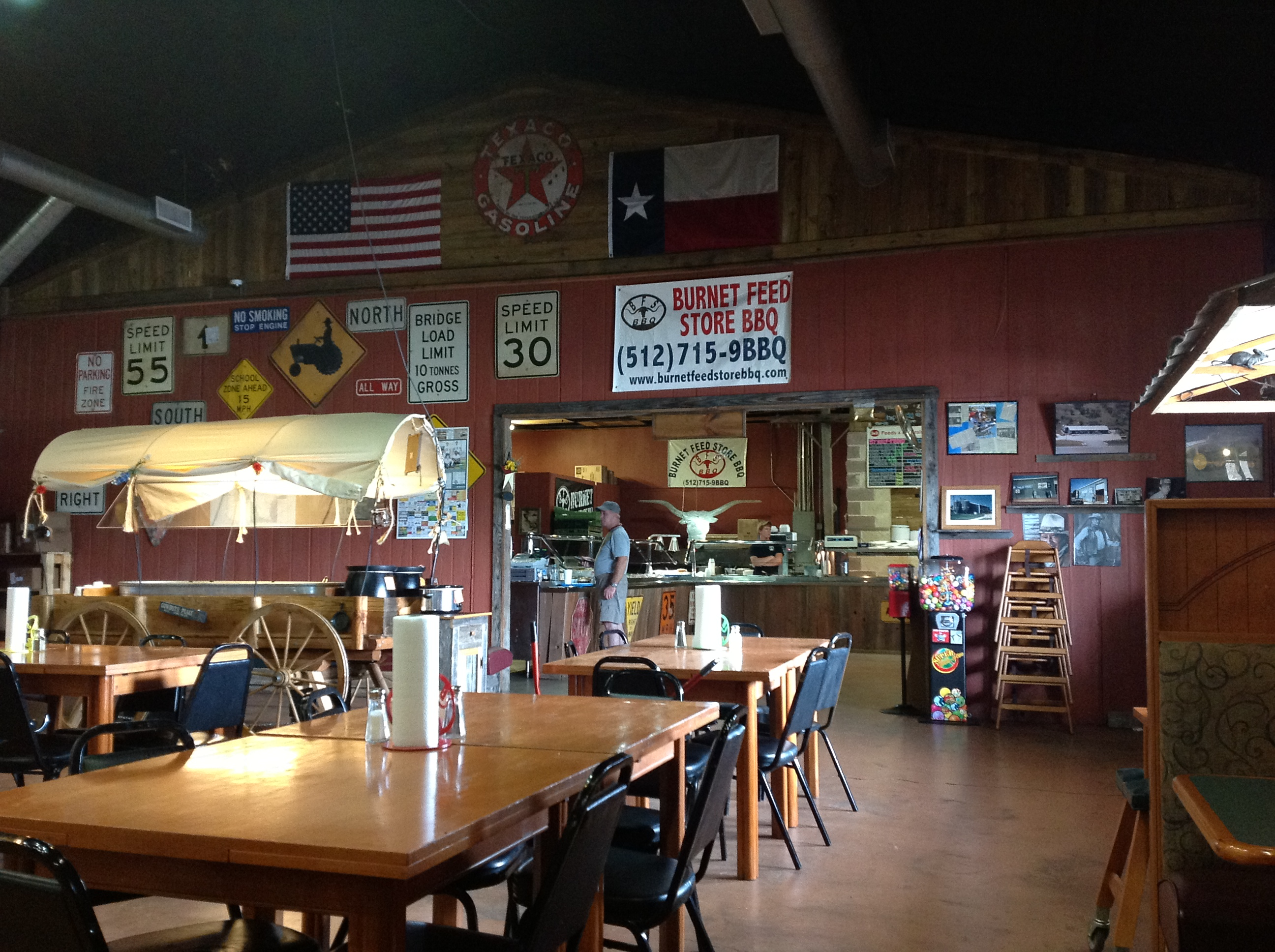 True Hill Country BBQ at Burnet Feed Store BBQ.