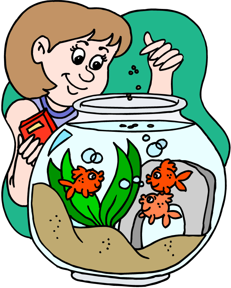 Feed Fish Clipart.