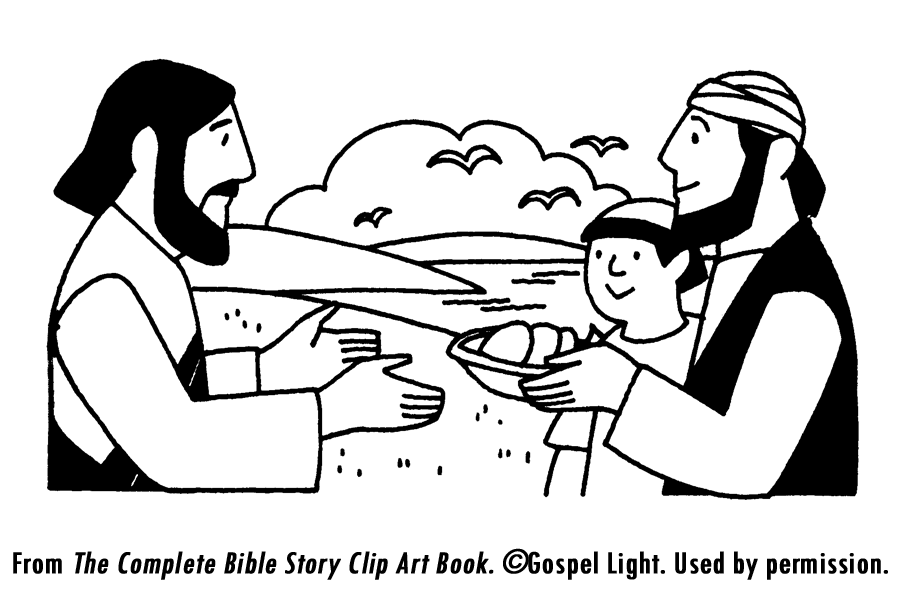 Clipart of jesus feeding the hungry image.