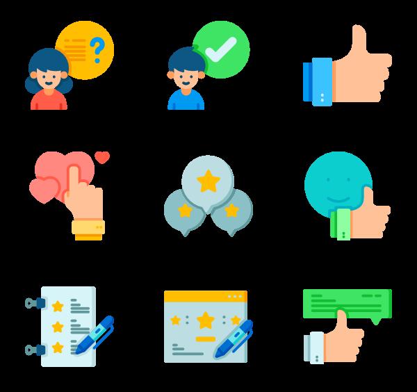 78 feedback icon packs.
