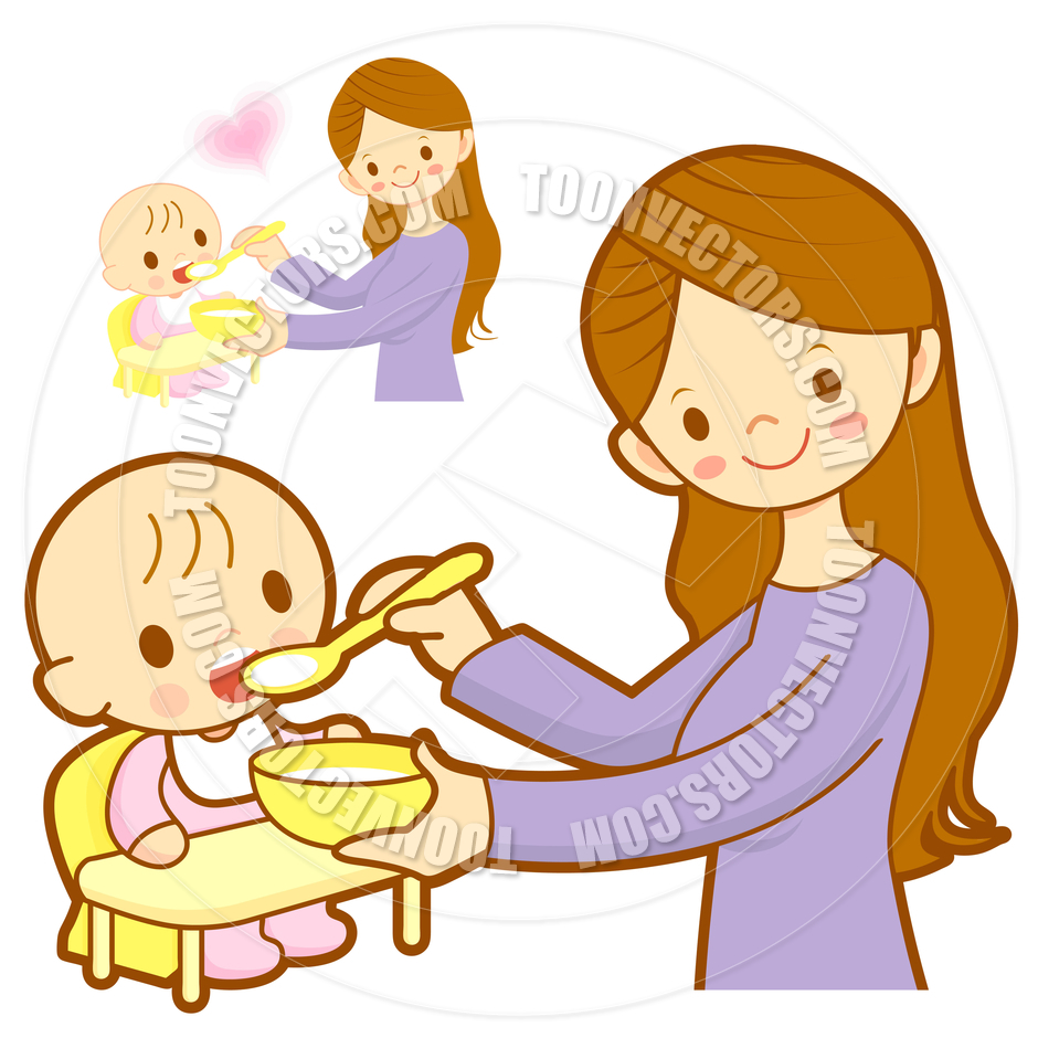 Mother Feeding Baby Clipart (61 ).