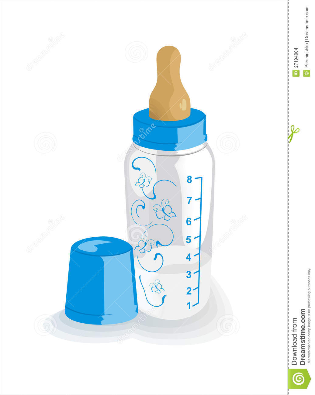 Feeding Bottle For The Boy Stock Images.
