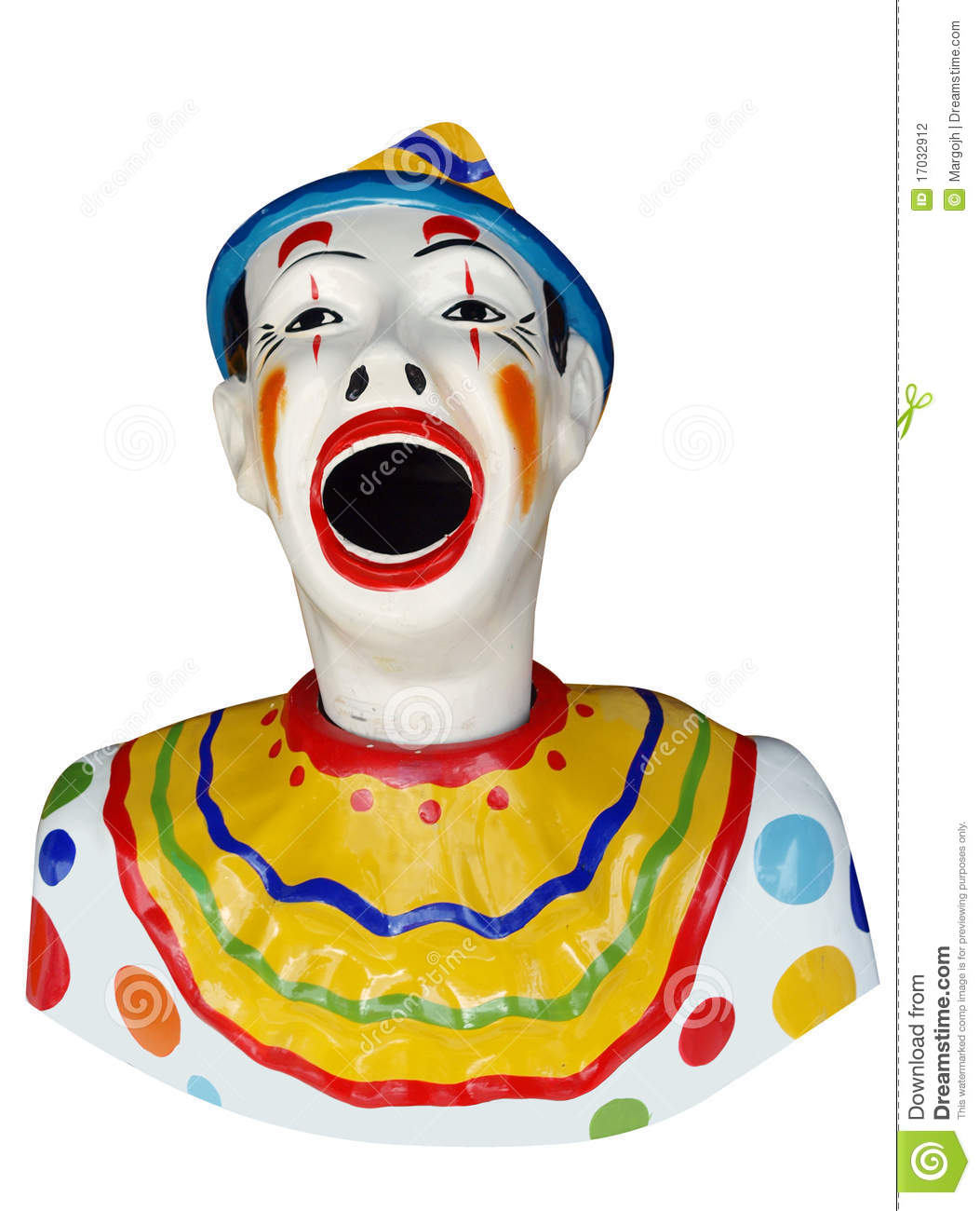 Carnival Feed The Clown Figure Stock Photography.