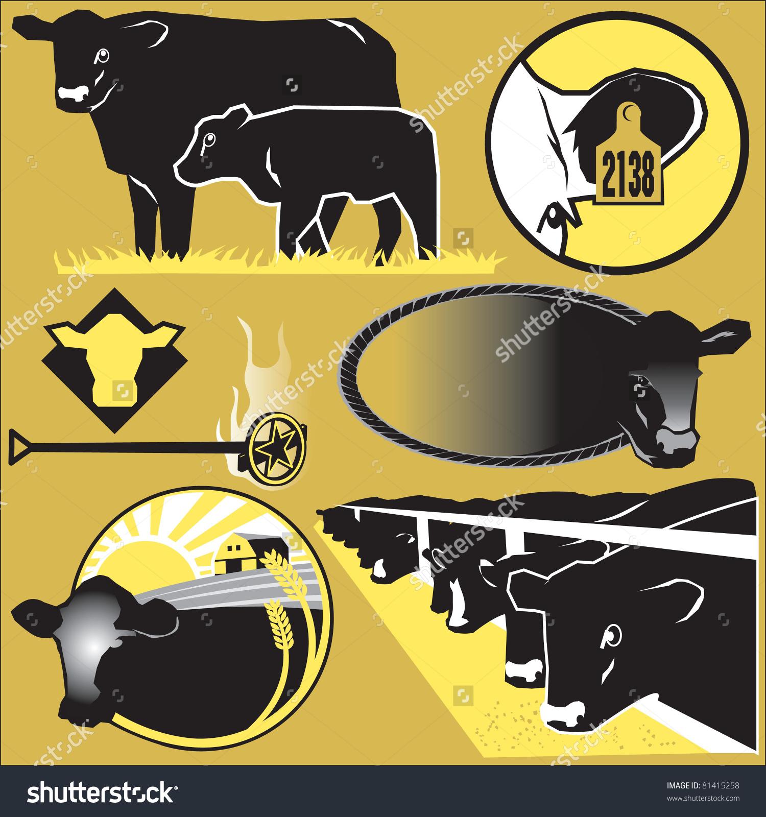 Cattle Clip Art Stock Vector Illustration 81415258 : Shutterstock.