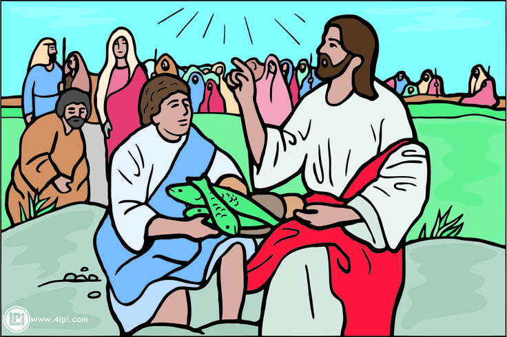 Make meme with Jesus Feeds The 5000 Clipart.