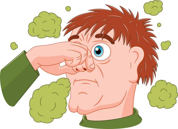Man feeling bad smell » Clipart Station.
